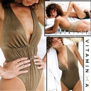New Vitamin A Stella One Piece Swimsuit Metallic 4